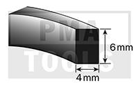 SK-Moosband, 4x6 mm, 15 m, 5 Rollen