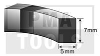 SK-Moosband, 5x7 mm, 5 m, 5 Rollen