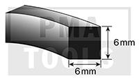 SK-Moosband, 6x6 mm, 15 m, 5 Rollen