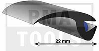 ProFlexx Universalprofil mit Butyleinlage, 22 mm, 23 m