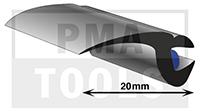 ProFlexx Universalprofil mit Butyleinlage, 20 mm, 23 m