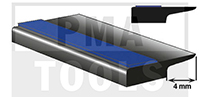 SK-Unterglasprofil mit Lippe, 4 mm, 5 m
