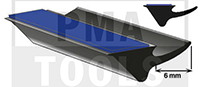 Underglass profile self-adh. with cover lip, 6 mm, 20 m