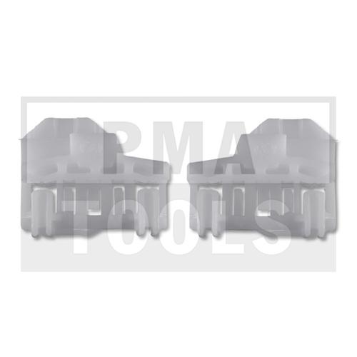 AUDI A4, 01-07, Reparaturset Seitenscheibenführung, links, 2 Stück