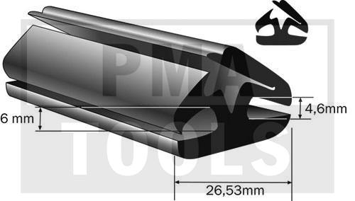 Vollgummiprofil, 26x19 mm, 25 m