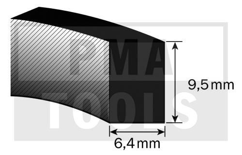 SK-Moosband Thermodicht-Profil, 6,4x9,5 mm, 20 m