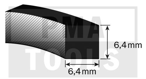 SK-Moosband Thermodicht-Profil, 6,4x6,4 mm, 20 m