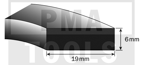 SK-Moosband für Armaturenbrett, 19x6 mm, 15 m