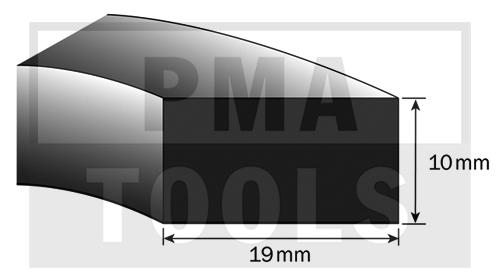 SK-Moosband für Armaturenbrett, 19x10 mm, 10 m