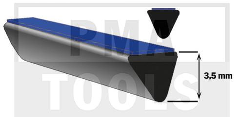 SK-Unterglas-Distanzprofil, 5x3,5 mm, 20 m