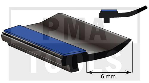 SK-Unterglasprofil mit Lippe, 6 mm, 20 m