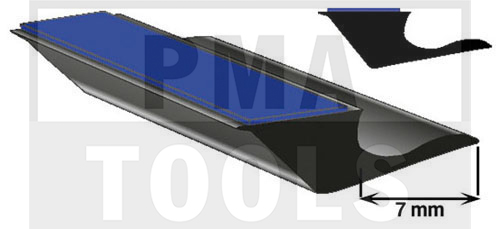 SK-Unterglasprofil mit Lippe, 7 mm, 20 m