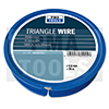 Triangle wire, 0,6 mm, 50 m on plastic dispenser
