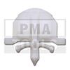 OPEL Astra H GTC, 05-10, Befestiger Windleitblech, weiß