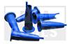 Kartuschenspitzen, vorgeschnitten, blau, 12 Stück im Beutel