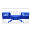 HONDA Accord Lim./Kombi, 03-08, WS-Klip Leiste A-Säule, links, blau