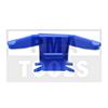 MITSUBISHI Outlander, 03-06, WS-Klip Leiste A-Säule, links, blau