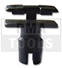BMW 3 Series E36, 91-98, Fastener waterpanel, black