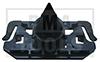MERCEDES E-Klasse W211, 02-09, Befestiger Windleitblech, schwarz