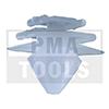 PEUGEOT 206/206+, 98-12, Befestiger Windleitblech, weiß
