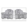 AUDI A4, 01-07, Reparaturset Seitenscheibenführung, rechts, 2 Stück