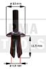 Befestiger Windleitblech/Verkleidung, schwarz