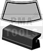 TOYOTA Corolla E100 4trg., 91-97, WS-SK-Dichtband, 4330 mm, 2tlg.