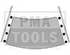 VW Golf III, 91-98, WS-Clip set A-pillar, 8 pcs.